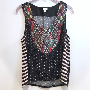 Worn once Anthropologie embroidered Tiny tank top